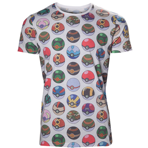Pokemon Pokeball All Over Print T-shirt