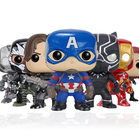 Captain America Civil War Funko Pop! Vinyls-Captain America