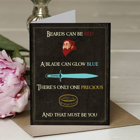 The One Ring Valentines Card
