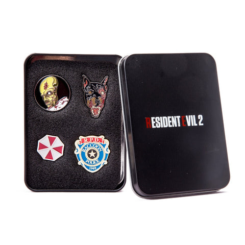 Resident Evil 2 Collectors Pin Badge Set