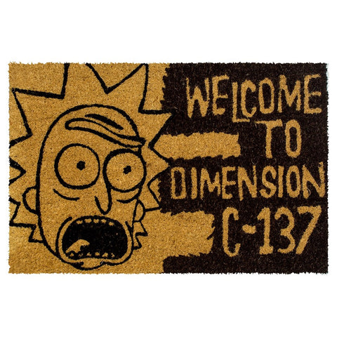 Rick and Morty Dimension C-137 Coir Doormat