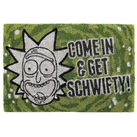 Rick and Morty Get Schwifty Coir Doormat