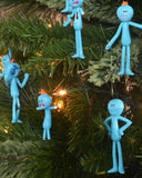 Rick and Morty Mr Meeseeks Christmas Tree Decorations (12-pack)