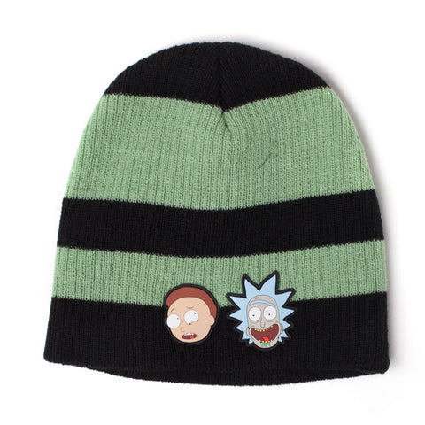 Rick and Morty Striped Beanie Hat
