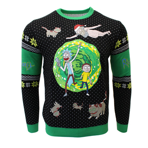 Rick and Morty Portal Knitted Christmas Jumper / Sweater