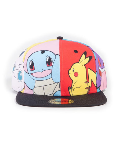 Pokemon Multi Pop Art Snapback Cap
