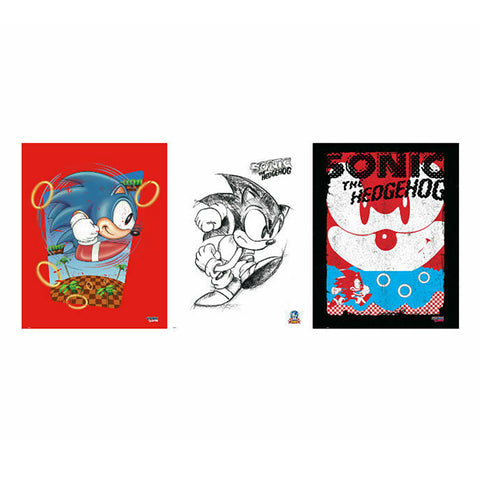 Sonic The Hedgehog Art Collection Prints (3 pack)