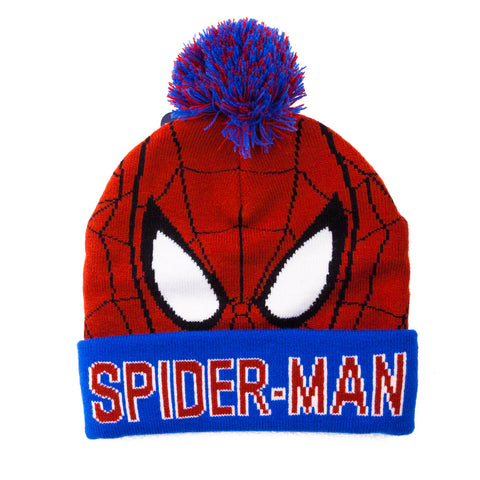 Spiderman Character Knit Bobble Hat