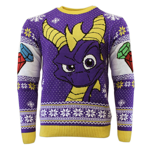 Spyro the Dragon Knitted Christmas Jumper / Sweater