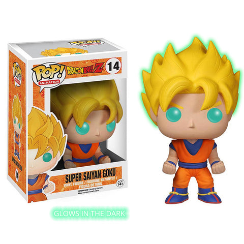 [Ltd. Edition] Dragonball Z Funko Pop! Vinyl - Glow in the Dark Super Saiyan Goku