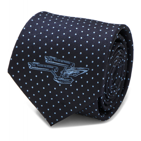 Star Trek Enterprise Dot Pattern Silk Tie
