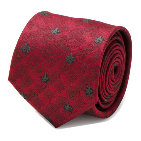 Star Trek TNG Red Delta Silk Tie