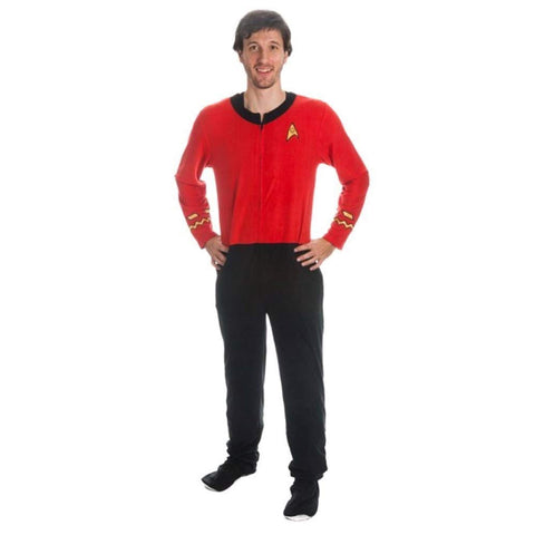Star Trek TOS Comms Full Length Footed Onesie