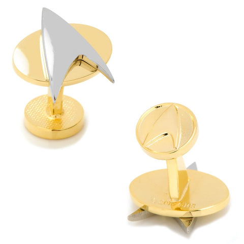 Star Trek Two-Tone Delta Shield Cufflinks