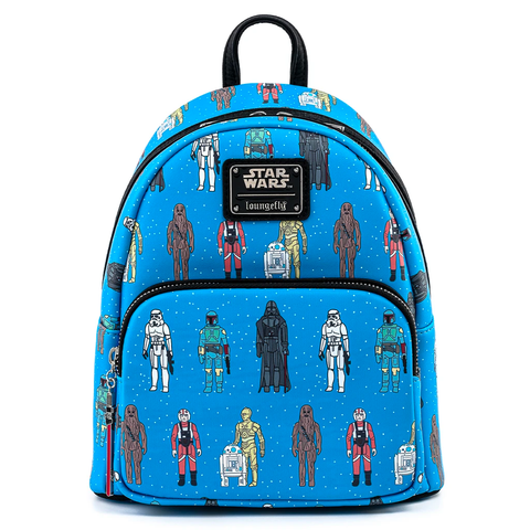 Loungefly x Star Wars Action Figures Line Up Mini Backpack