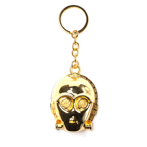 Star Wars C-3PO 3D Metal Key Chain