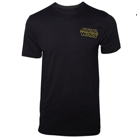 Star Wars Black Logo T-Shirt with Character List
