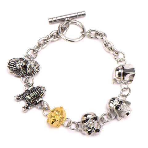 Star Wars Character Heads Toggle Clasp Bracelet