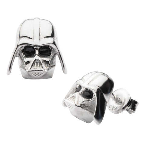 Star Wars Darth Vader Sterling Silver Earrings