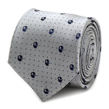 Star Wars Death Star Dot Print Silk Tie