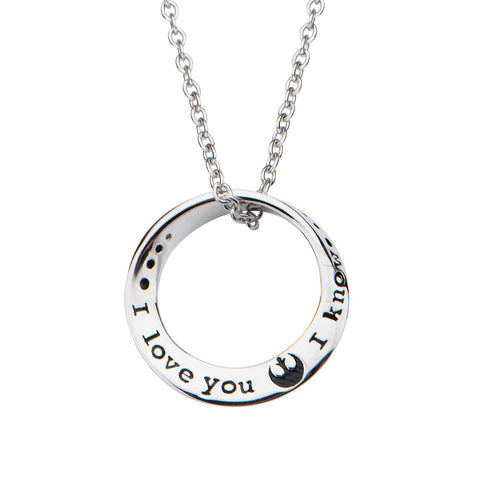 Star Wars I Love You / I Know Sterling Silver Pendant