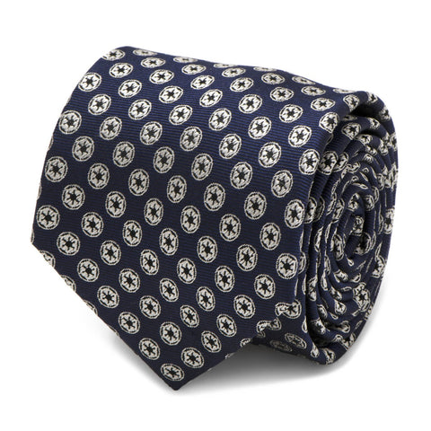 Star Wars Imperial Symbol Navy Silk Tie