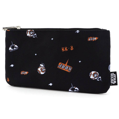 Loungefly x Star Wars BB-8 All Over Print Purse/Cosmetics Bag