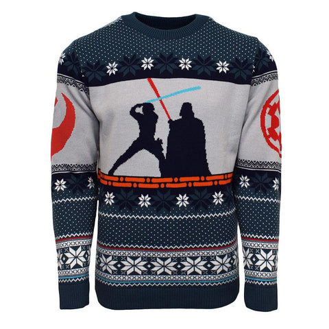 Star Wars Luke vs. Darth Knitted Christmas Jumper / Sweater