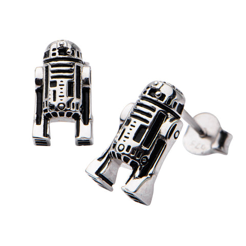 Star Wars R2-D2 Sterling Silver Earrings