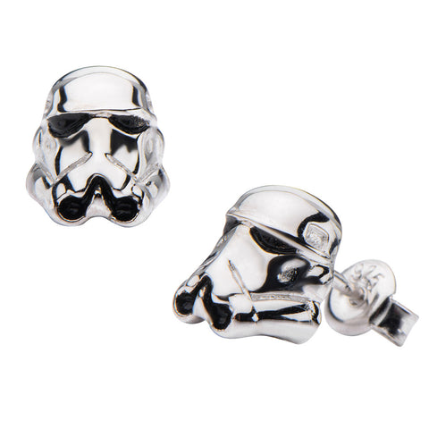 Star Wars Stormtrooper Sterling Silver Earrings