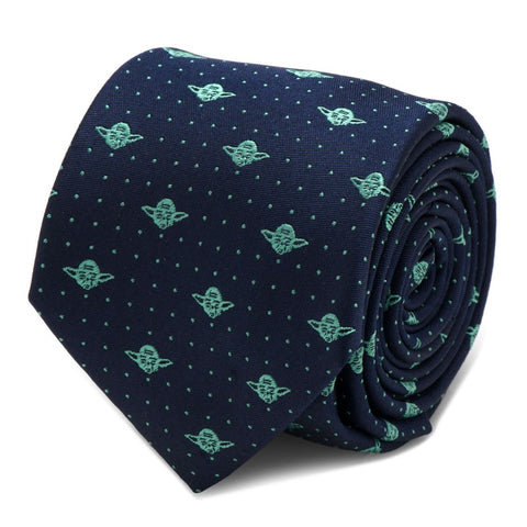Star Wars Yoda Dot Print Silk Tie