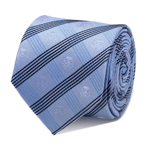 Star Wars Stormtrooper Blue Plaid Silk Tie