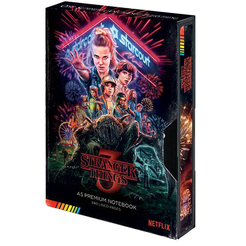 Stranger Things (S3) Retro VHS Cassette A5 Premium Notebook
