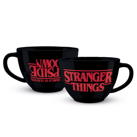 Stranger Things The Upside Down Cappuccino Cup with Demogorgon Coffee Stencil
