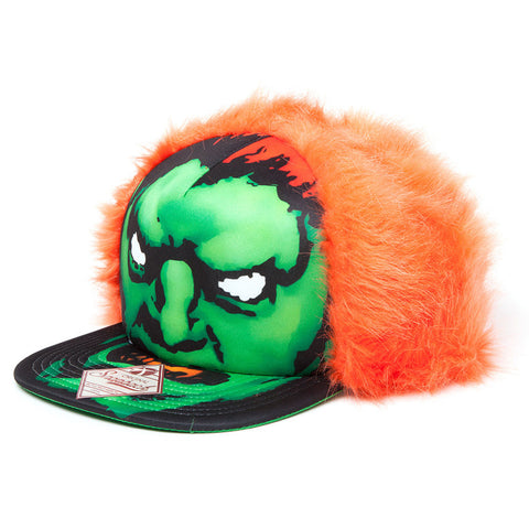 Street Fighter Blanka Novelty Furry Snapback Cap