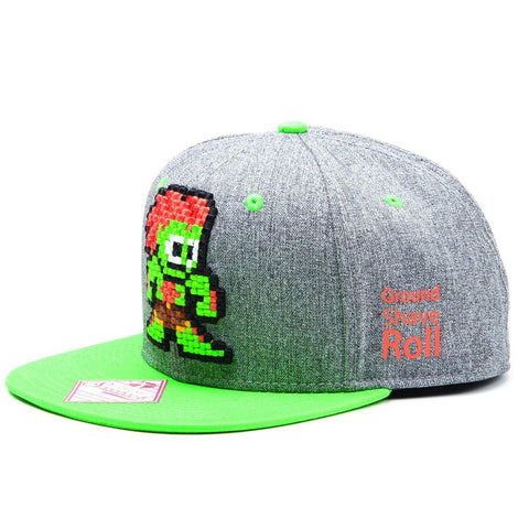 Street Fighter Retro Pixelated Blanka Snapback Cap