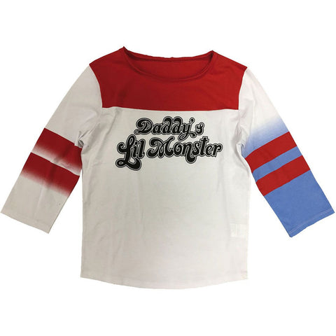 Suicide Squad Harley Quinn Daddy's Lil' Monster Cosplay Replica Shirt