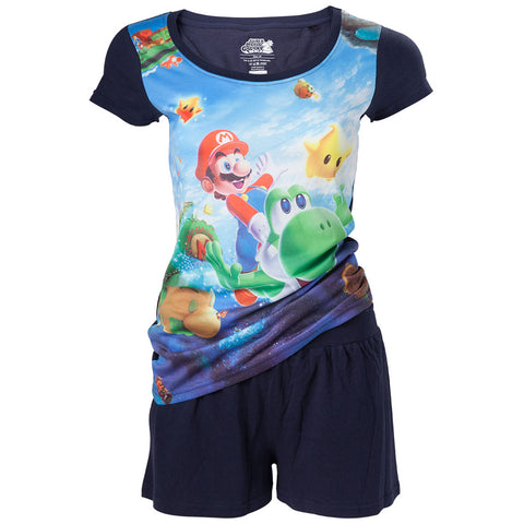 Nintendo Super Mario Female Shortama Pyjama Set