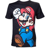 Super Mario Black Character T-shirt