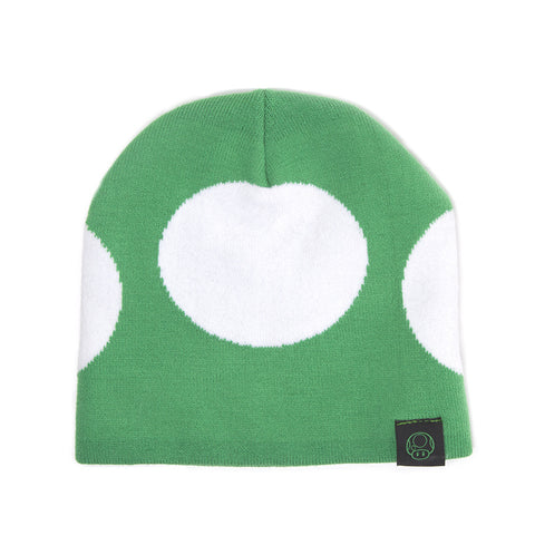 Super Mario Green 1-UP Mushroom Beanie Hat