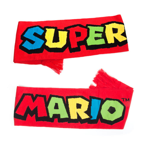 Super Mario Logo Knitted Scarf