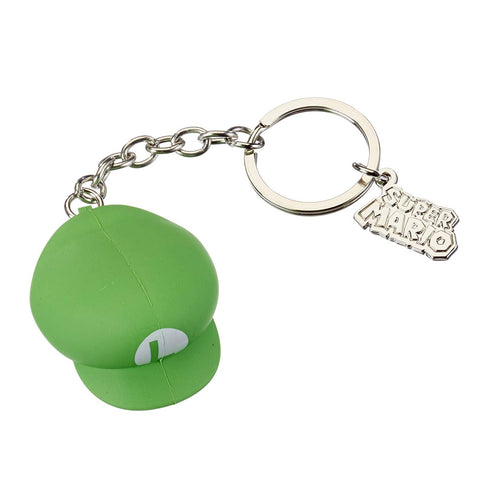 Super Mario 3D Luigi Hat Rubber Key Chain