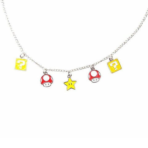 Super Mario Super Mushroom, Question Block and Super Star Necklace
