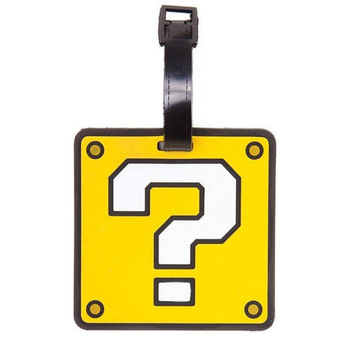 Super Mario - Question Block Luggage Tag