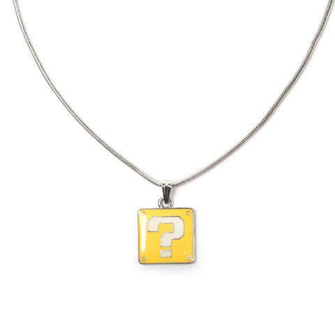 Super Mario Question Block Necklace