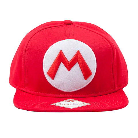 Super Mario Red Snapback Cap