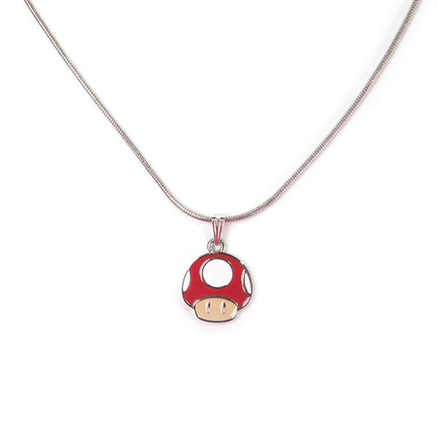 Super Mario Red Super Mushroom Necklace