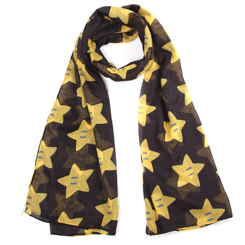 Super Mario Super Star All Over Print Fashion Scarf