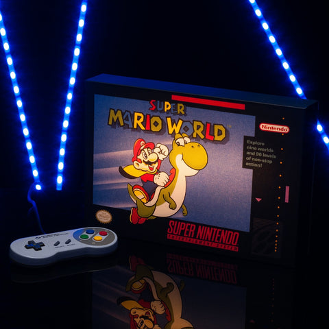 Super Mario World Illuminating Canvas
