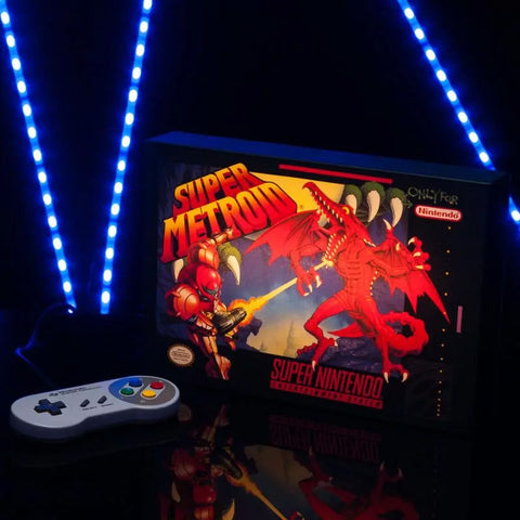Super Metroid Illuminating Canvas